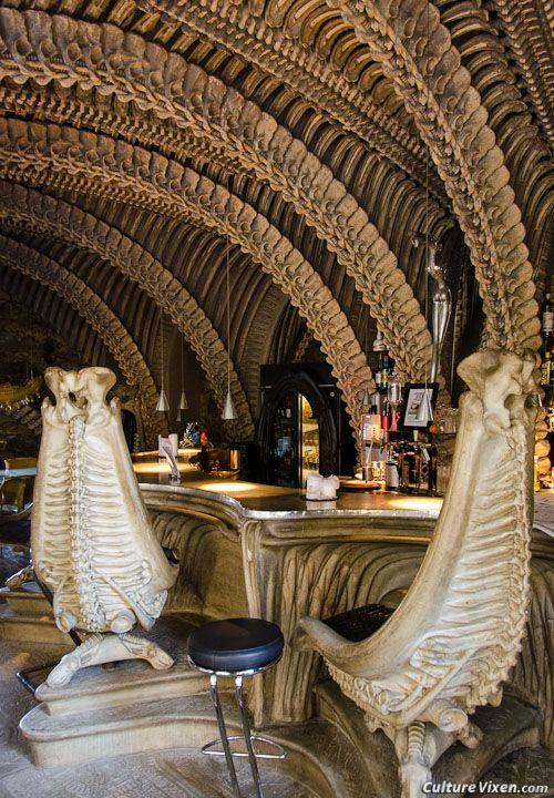 HR Giger Bar, Gruyères, Switzerland. (photo by Gayle Wheatley & Tyson Wintibaugh)