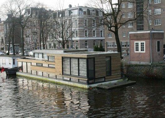MTB architecten Apeldoorn Amsterdam - Woonboot in de Amstel