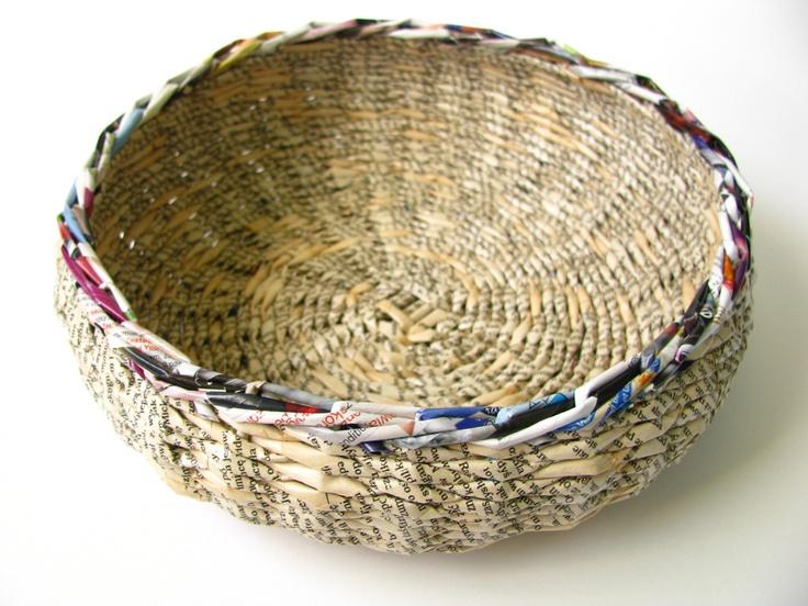 paper bowl, newspaper, papierowa misa