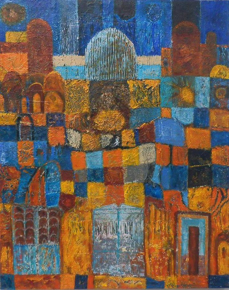 Dahab Bazaar - acrylic on canvas