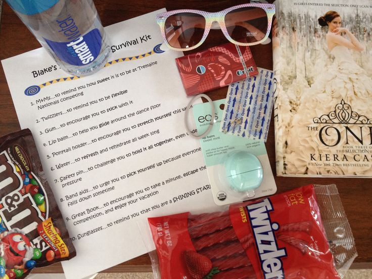 Dancer's survival kit...great gift for competitions, recitals, intensives and workshops