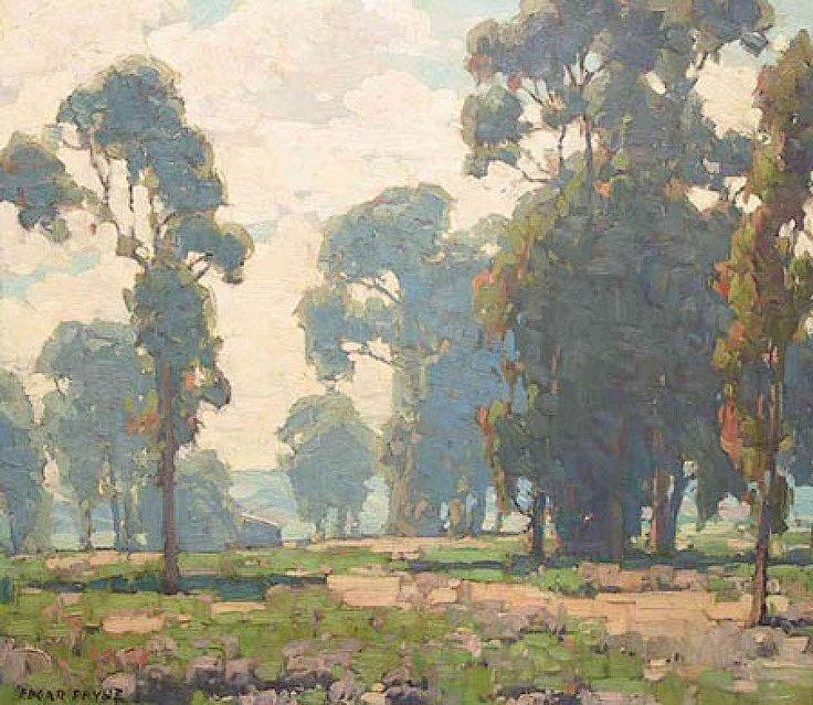 Edgar Payne (1882-1947). Eucalyptus Grove, Laguna Beach. Oil on canvas, 20 x 24.