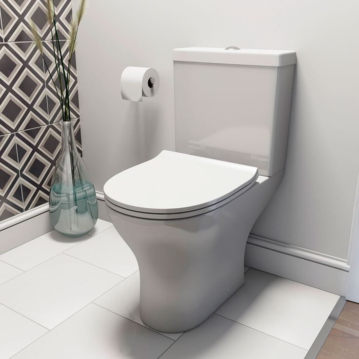 new bathroom images%0A Orchard Derwent round compact close coupled toilet with luxury soft close  seat  New Bathroom