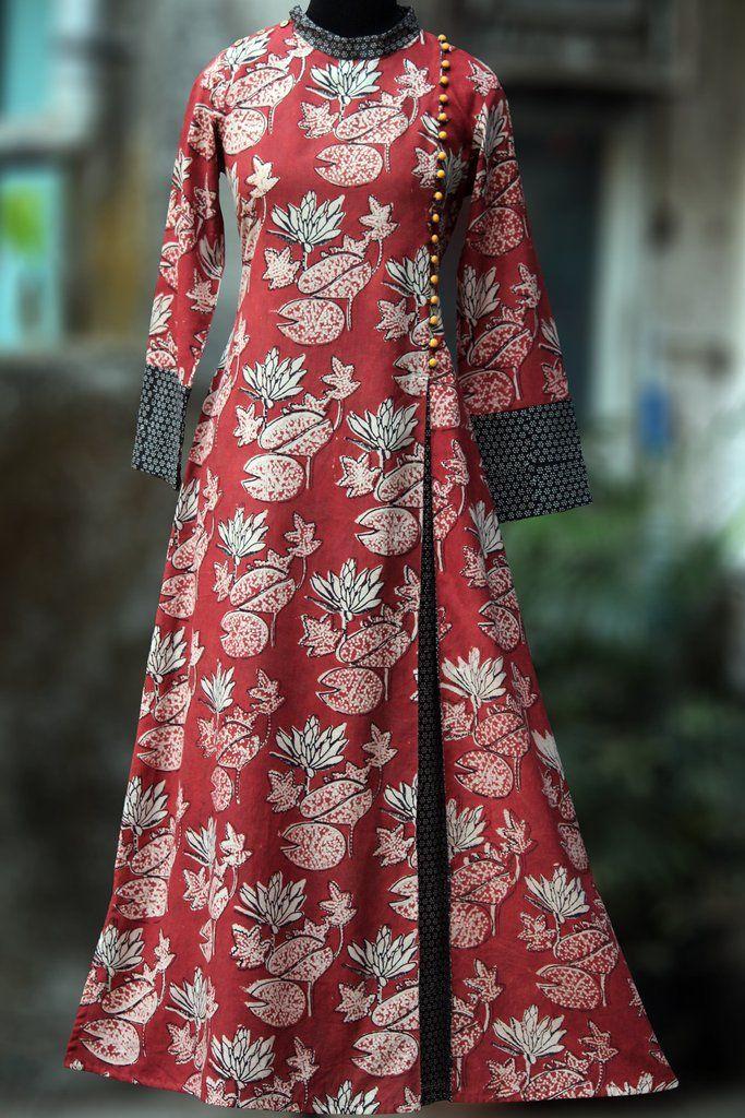 a-line dress - vermilion & the indian lotus