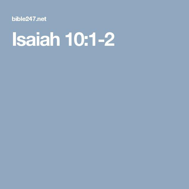 Isaiah 10:1-2