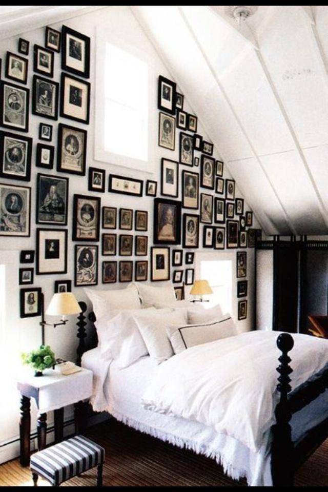 Vintage photo/frame wall
