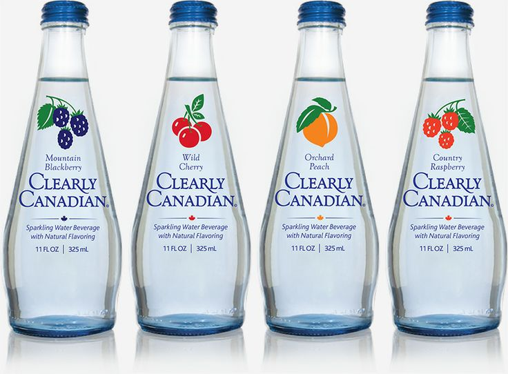 Oh how I miss thee.. Clearly Canadian Blackberry, Cherry, Peach and Raspberry Bottles