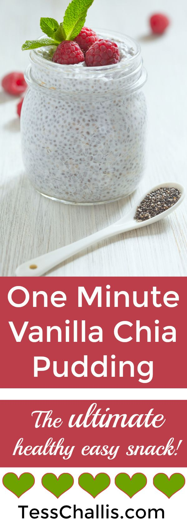 One Minute Vanilla Chia Pudding- the ultimate easy healthy snack! http://tesschallis.com/recipes/2017/5/14/one-minute-vanilla-chia-pudding #vegan #chia #glutenfree #healthysnacks #recipe