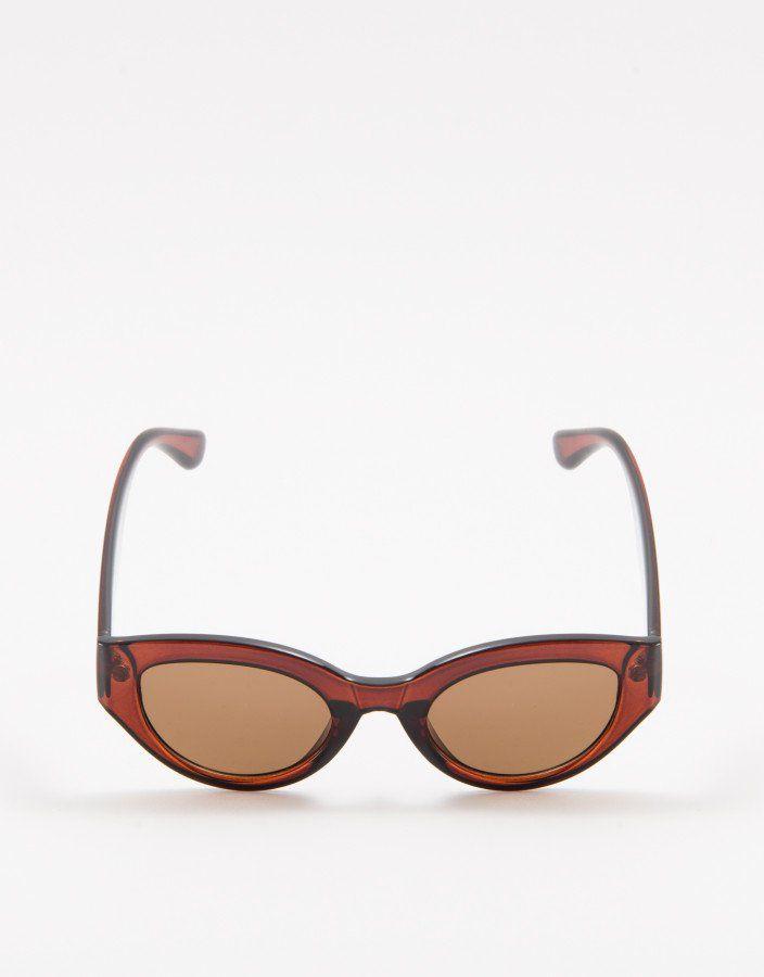 e7982ab5d1501 ÓCULOS DE SOL VINTAGE MARROM Óculos de Sol Vintage Marrom feito em material  sintético. Armação e hastes em acetato translúcido marrom. Lentes…