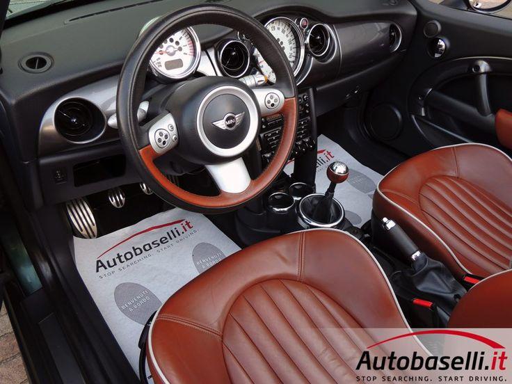 MINI COOPER S CABRIO 1.6 16V SIDEWALK Interni in pelle English Malt Brown + Cruise control + Capote elett + Sensori di parcheggio +…