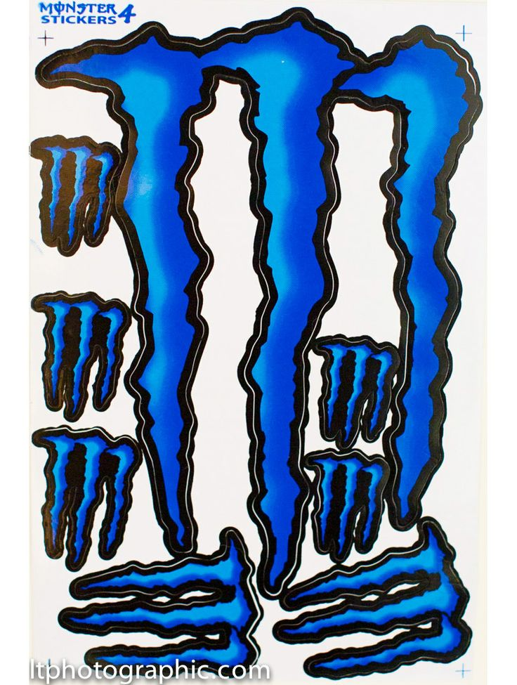 Hot blue monster energy decals stickers supercross bike motocross kit