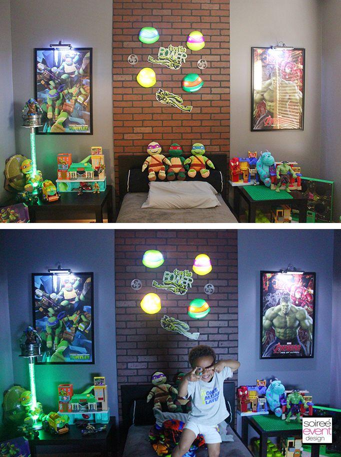 | Project Home Redecorate: Ninja Turtles Bedroom Ideas | http://soiree-eventdesign.com