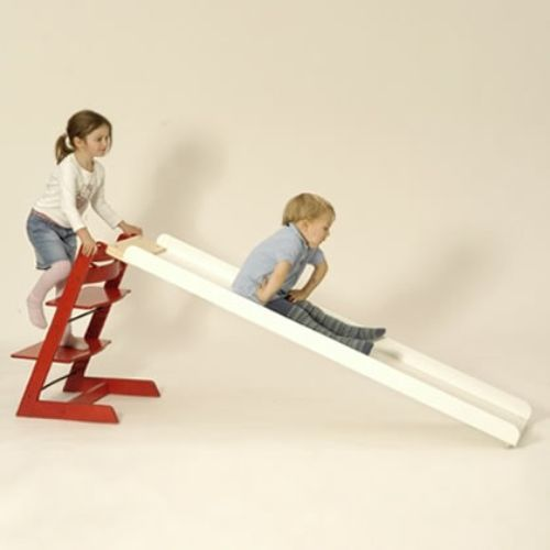 Indoor Slide by Kaether & Weise that fits on any bed or Stokke's Tripp Trapp chair