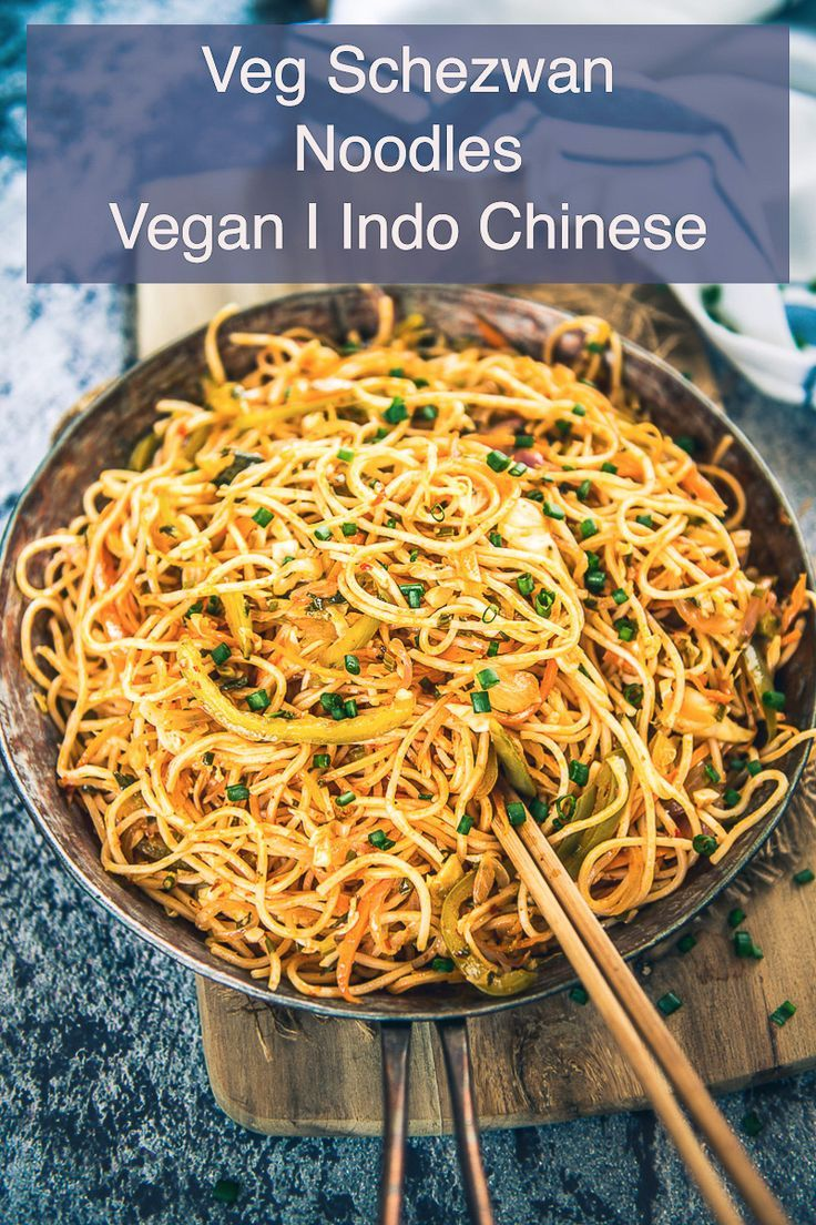 Veg Schezwan Noodles are easy to make at home and they pair well with nay Indo Chinese curries. You can have them as such also. #IndoChinese #Recipe