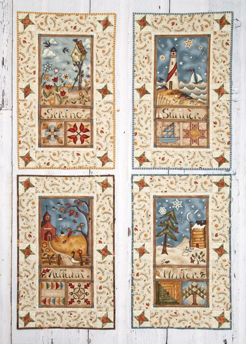 Four Seasons Banners by Michele Crawford (from The Quilter Magazine April/May 2014 issue)