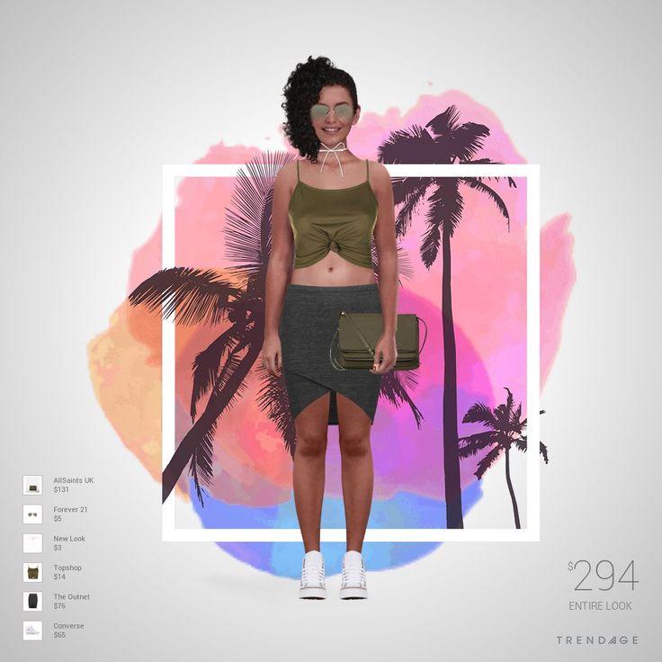 tenue de la mode faite par IsLém en utilisant les vêtements de The Outnet, Topshop, New Look, Forever 21, Converse, AllSaints UK. Look créé sur Trendage.