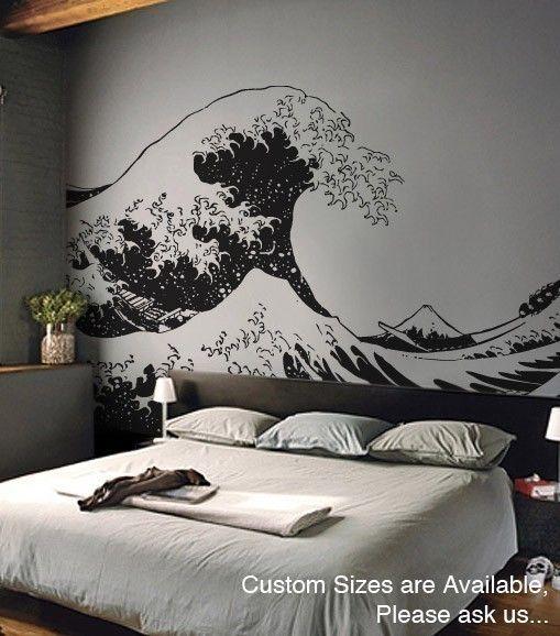 Vinyl Wall Decal Sticker Japanese Great Wave Hokusai
