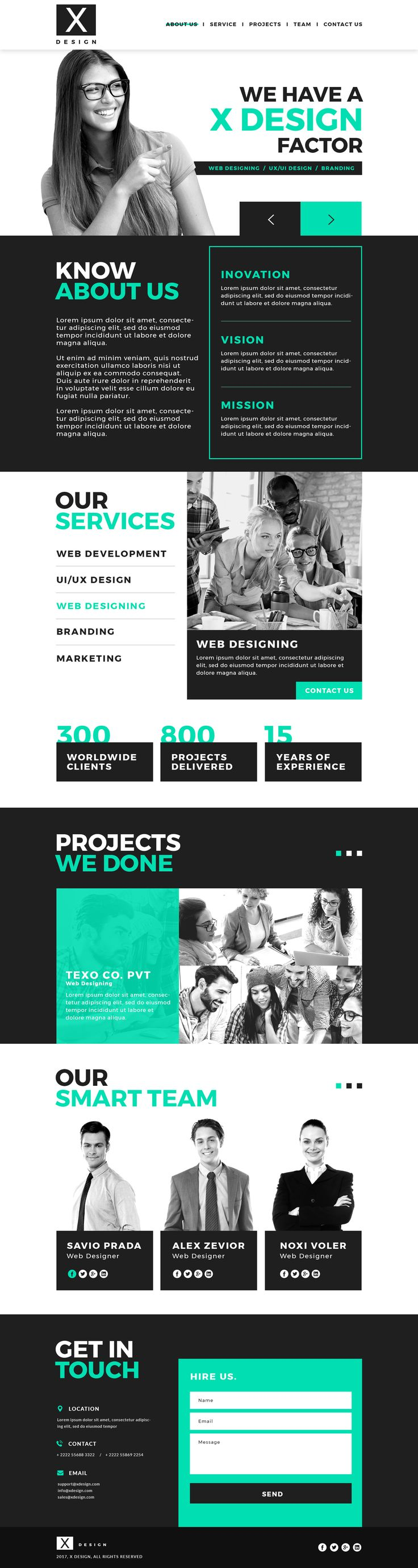 X design is a well designed PSD web template with modern and fresh look.This template can be used to design portfolio, websites, This is unique,creative and best solution for your project. PSD file...