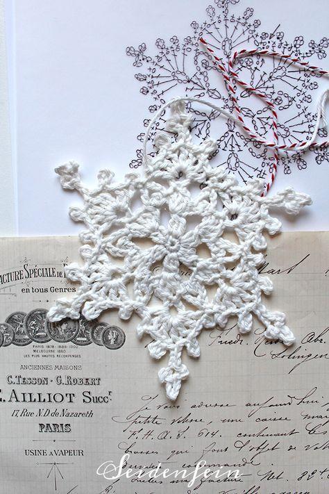 Häkeln Neue Schneeflocken Crochet New Snowflakes