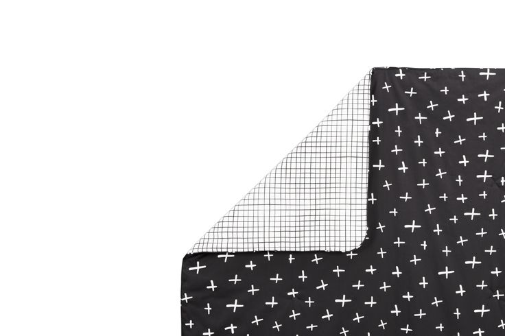 Tuxedo Monochrome 2-in-1 Play and Toddler Blanket
