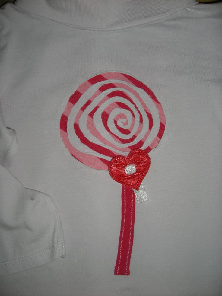 MAGLIETTA CHUPACHUPA PER ALICE -- made this chupachupa tshirt decoration for my daughter -- REMERA CHUPETIN PARA MI BEBE'