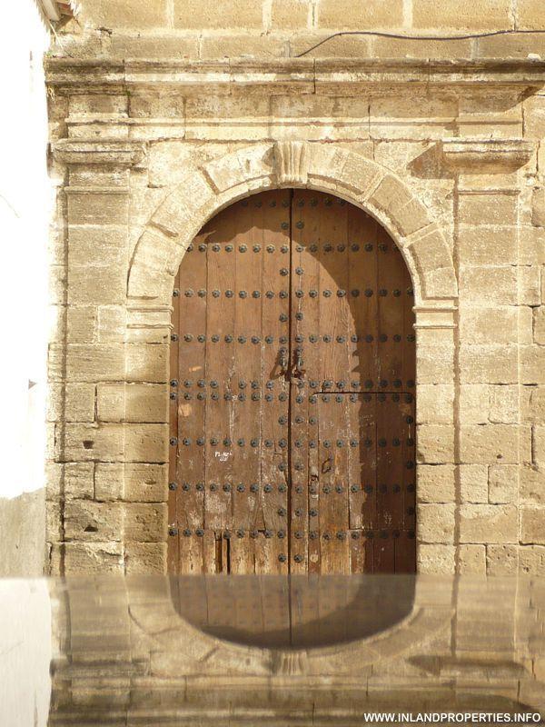 Door of Church at Plaza Baja Alora Malaga