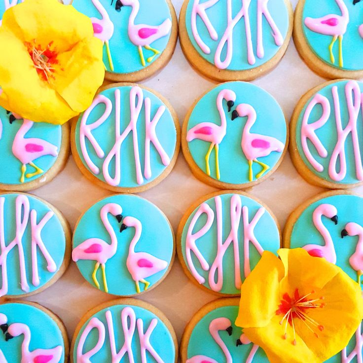 Flamingo Monogram Sugar Cookies (1 Dozen) by MerciBakery on Etsy https://www.etsy.com/listing/262785781/flamingo-monogram-sugar-cookies-1-dozen