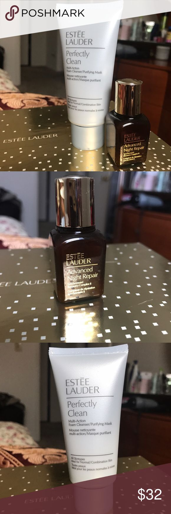 Estée Lauder Advanced Night Repair Travel Bundle Estée Lauder Travel Bundle  - Advanced Night Micro Cleansing foam 1.7oz - Advanced Night Repair Synchronized Recovery Complex .5oz Estee Lauder Makeup Face Primer
