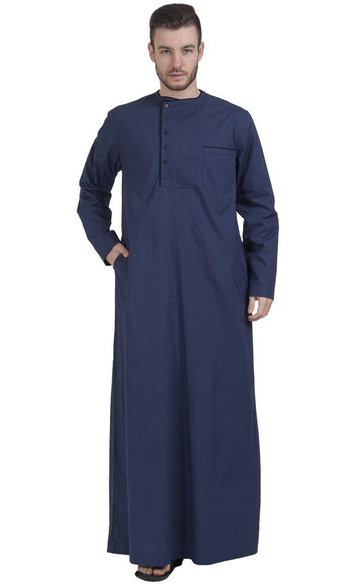 Navy Dishdasha, popular in Saudi Arabia , Kuwait, Iraq and