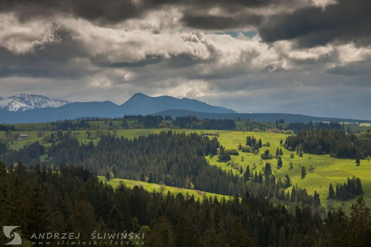 Podhale. The Western Tatras on the background.  #landscapephotography