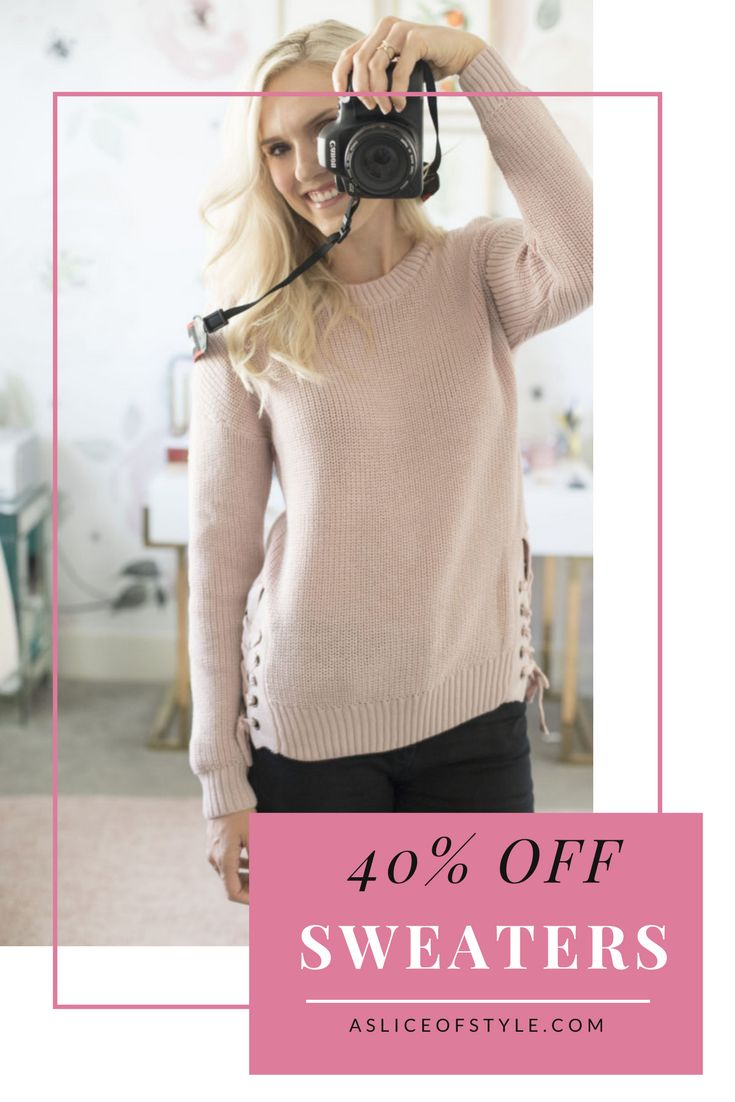 A HUGE sweater sale is going on! There are 20 different cute styles to choose from! Click for my code to get 40% off! Sweater weather | Huge sale | Sweater sale | Sweater outfit | Fall fashion | Cutest sweaters | Dress for fall | Black jeans
