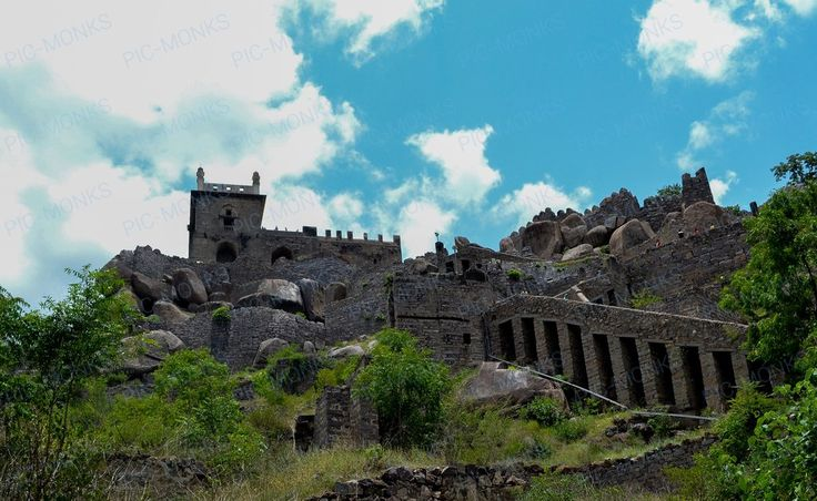 The famous heritage site of the Golkonda Fort in Telangana. Built by the Kakatiya dynasty in the 17th century A.D.