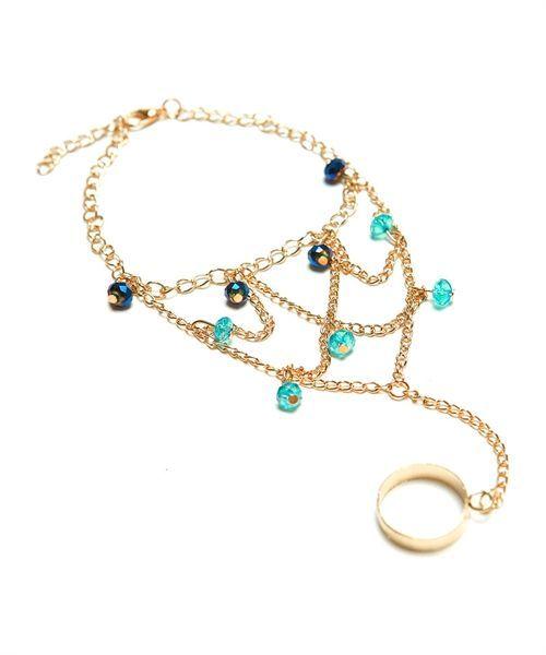 Bracelets with ring   Draped Bracelet with Ring   www.hobohala.com