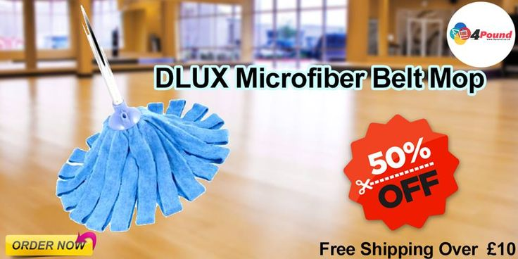 Buy Cleaning Products at #4poundOrder DLUX Microfiber Belt Mop Get 50% Discount Shop Now: http://www.4pound.co.uk/dlux-microfibre-belt-mop
