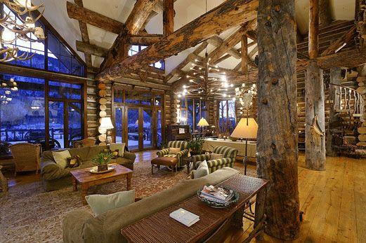 Adarondak Cabin Adirondack Style Lodge Log Cabin Spans
