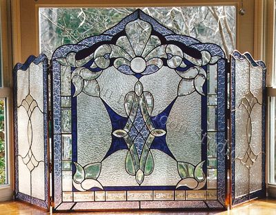 70 best Stained Glass Fireplace Screens images on Pinterest