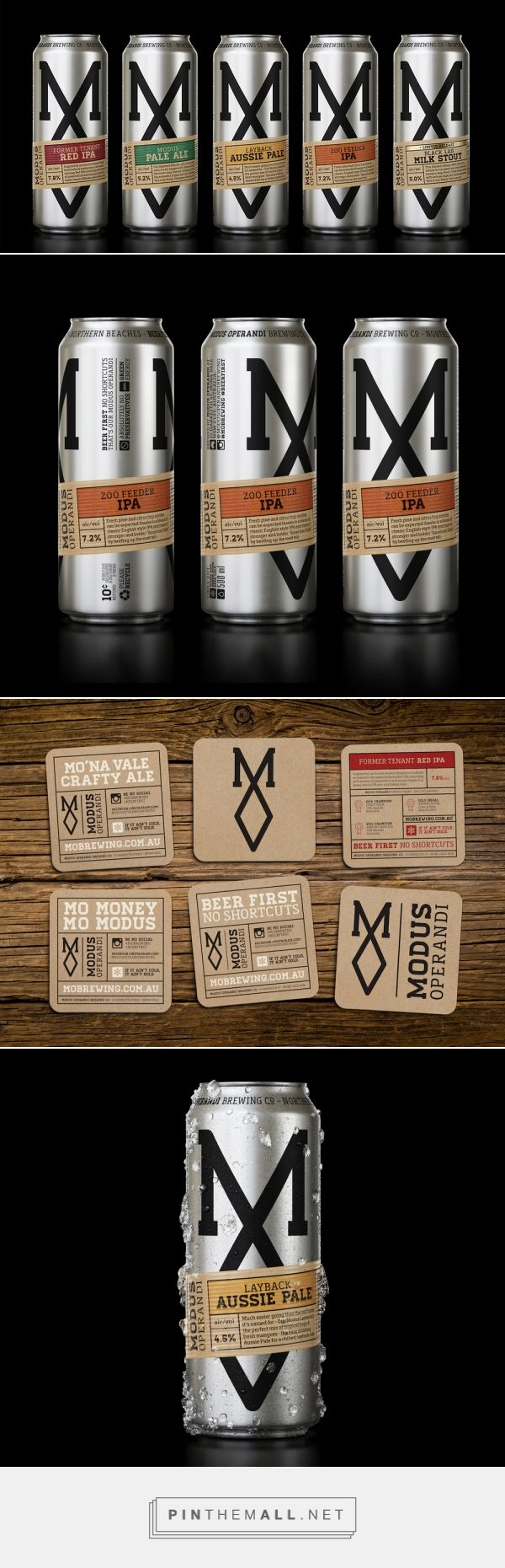 Modus Operandi Brewing — The Dieline - Branding & Packaging... - a grouped images picture - Pin Them All