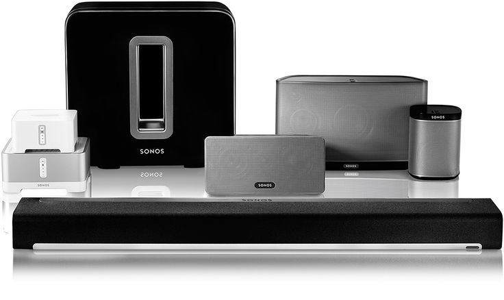Sonos Wireless Sound System | Scalable system; add as many pieces as you want. Just plug in. Doesn't need to be hardwired. Not affected by humidity - good for bathrooms or outside | Recommended on the Marilyn Denis Show