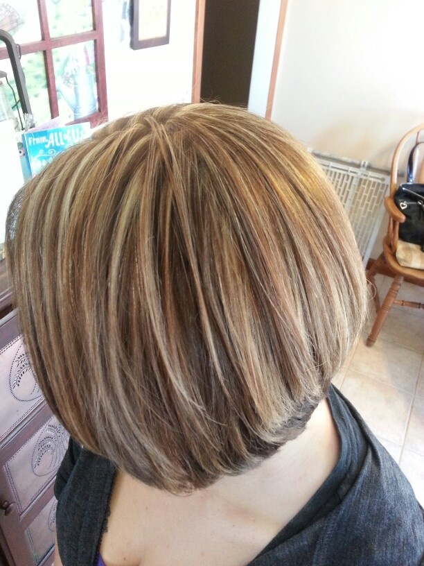 Heavy Foil Thinly Sliced With Blonde And Brown On A Bob
