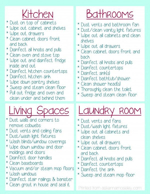 Clean Your House Before You Move In Free Printable Top Organizing Bloggers Pinterest Cleaning And Home