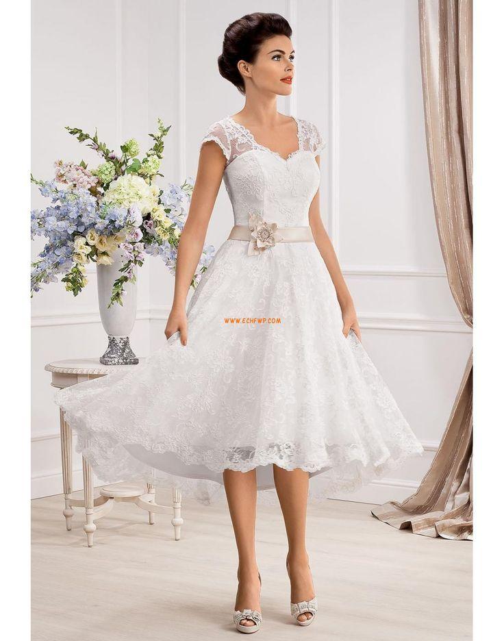 Obdélníkový Šerpy / Stuhy Přírodní Svatební šaty 2014
