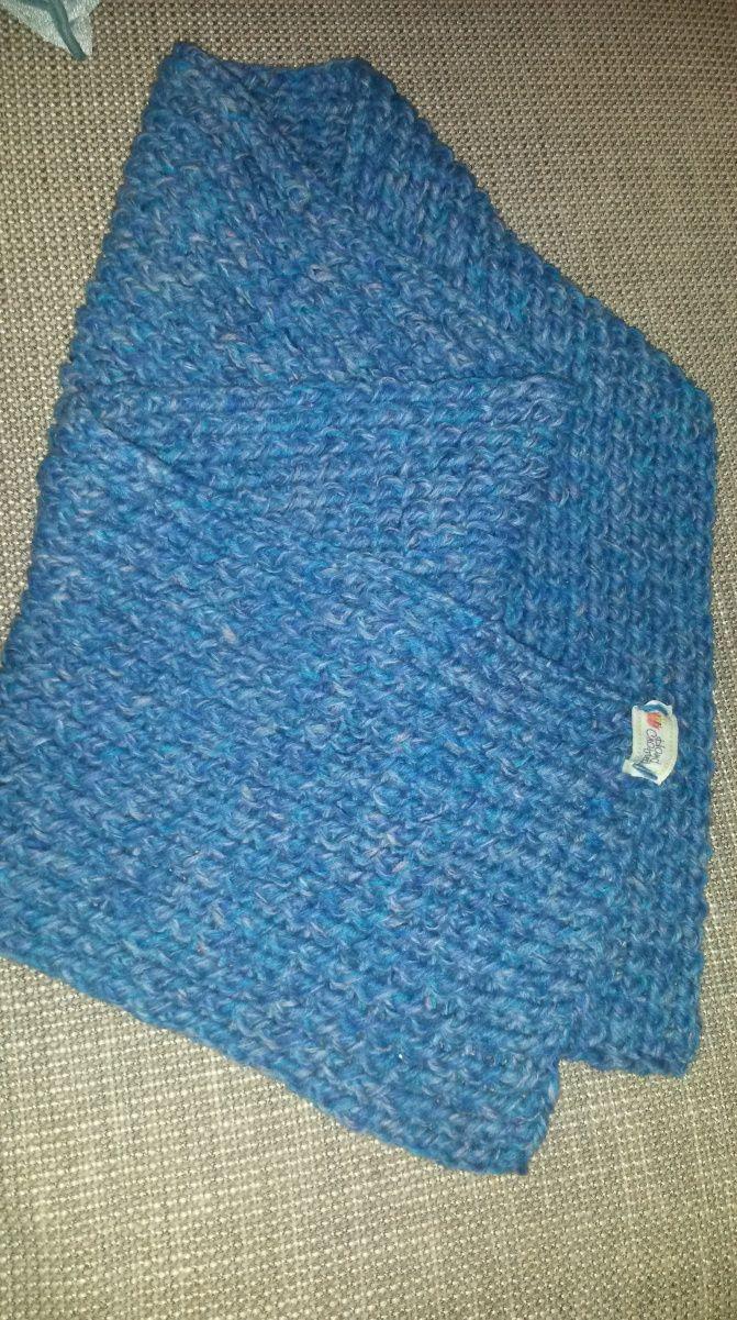 Zelfgemaakte Sjaal met de 'Crossed Stockinette Stitch'