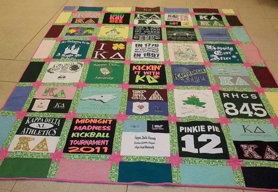 Kappa Delta Sorority Tee Shirt Quilt by SewingbyEmma on Etsy, $275.00