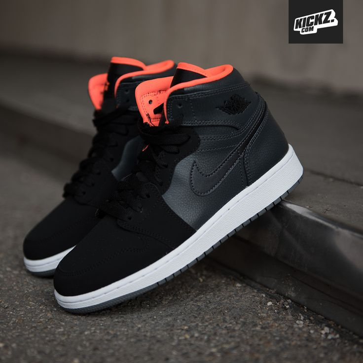 Air Jordan 1 Retro High BG metallic hermatite/hyper orange