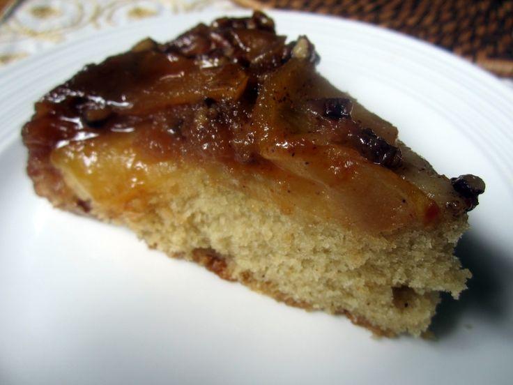 Upside-Down Salted Caramel Apple Pecan Cake: Amazing Recipe, Apples Pecans, Salts Caramel, Upside Down Cakes, Pecans Cakes, Apples Upside, Upside Down Salts, Salted Caramels, Caramel Apples