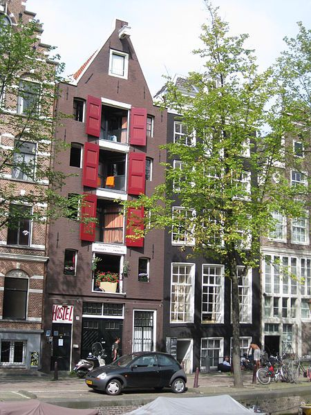 Leidsegracht 76 -74 Amsterdam. The dark building with the white window frames is where my grand parents used to live. Spent loads of time there watching the canal boats pass by.
