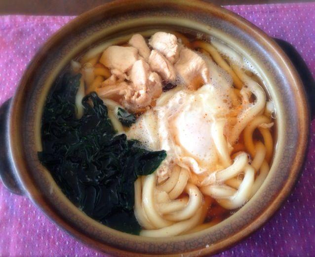 鳥肉をたっぷりと入れました。あつあつで美味しかった☺ - 10件のもぐもぐ - 鳥南うどん by tabajun