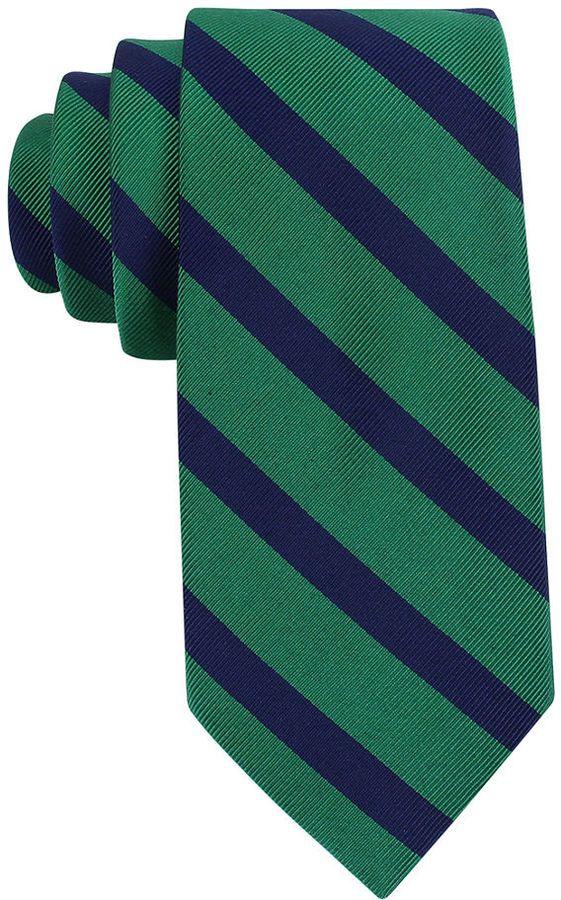 $38, Tommy Hilfiger Vintage Slim Slide Stripe Tie. Sold by Macy's. Click for more info: https://lookastic.com/men/shop_items/19438/redirect