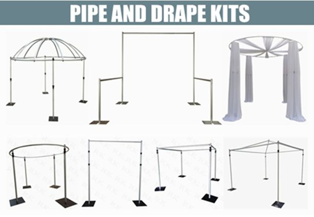 Adjustable pipe and drape kits,event pipe and drape booth wholesale,aluminum pipe and drape package for sale