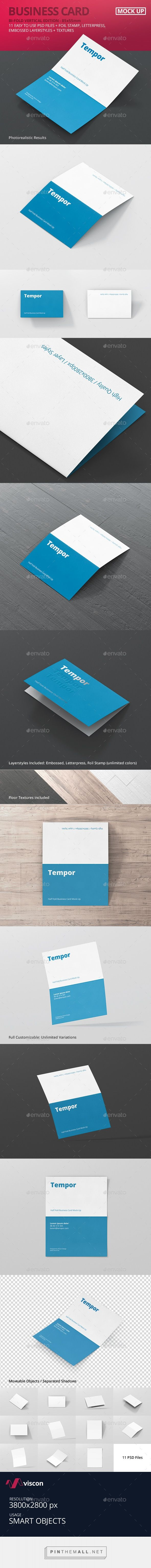 Best 25 folded business cards ideas on pinterest pop up folded business card mockup by visconbiz magicingreecefo Gallery